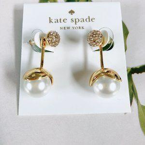 Kate Spade Golden Flower Pearl Stud Earrings